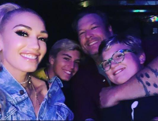 Blake Shelton, Gwen Stefani, and boys