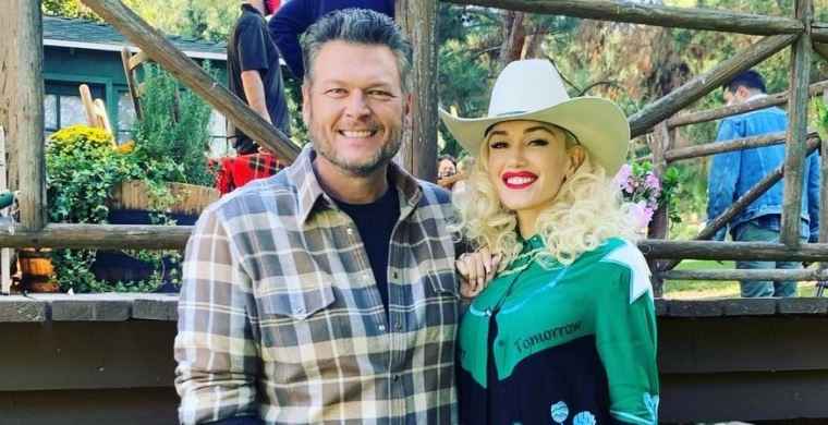 Gwen Stefani and Blake Shelton via Instagram