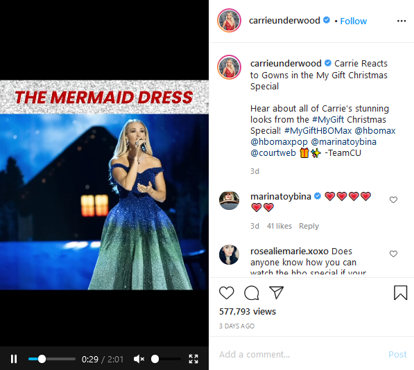 carrie underwood instagram post