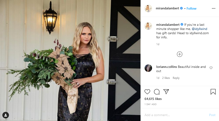 miranda lambert instagram post
