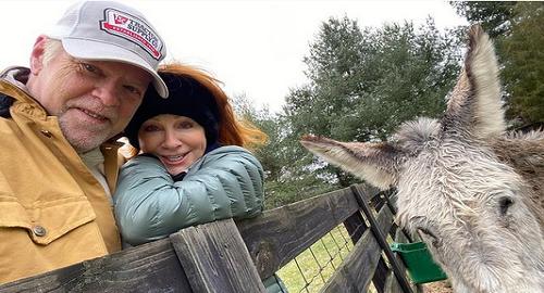 reba mcentire and rex linn farm selfie