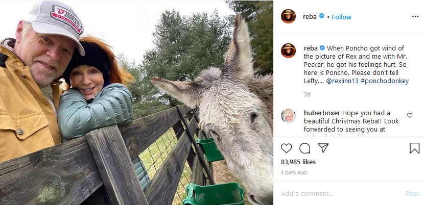 reba mcentire and rex linn instagram