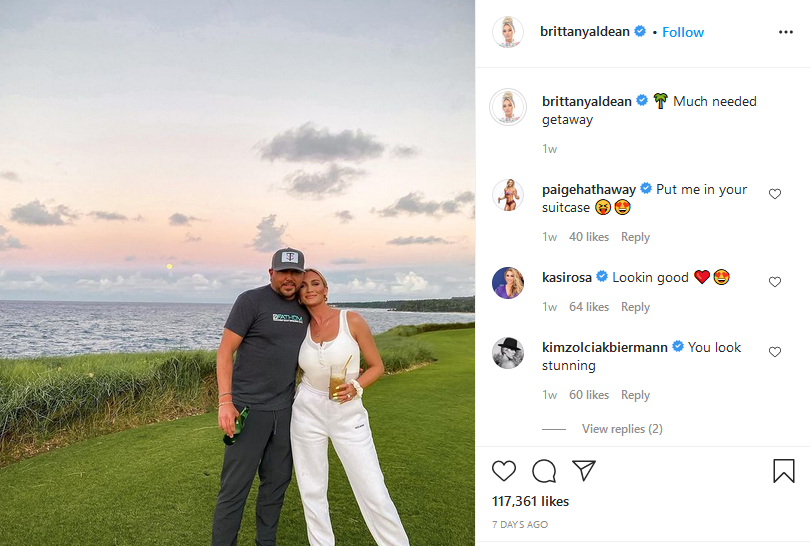 jason and brittany aldean instagram post