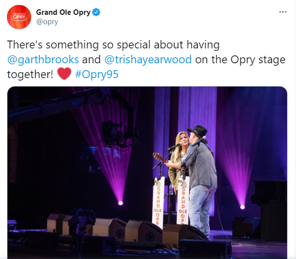 courtesy of Grand Ole Opry Twitter