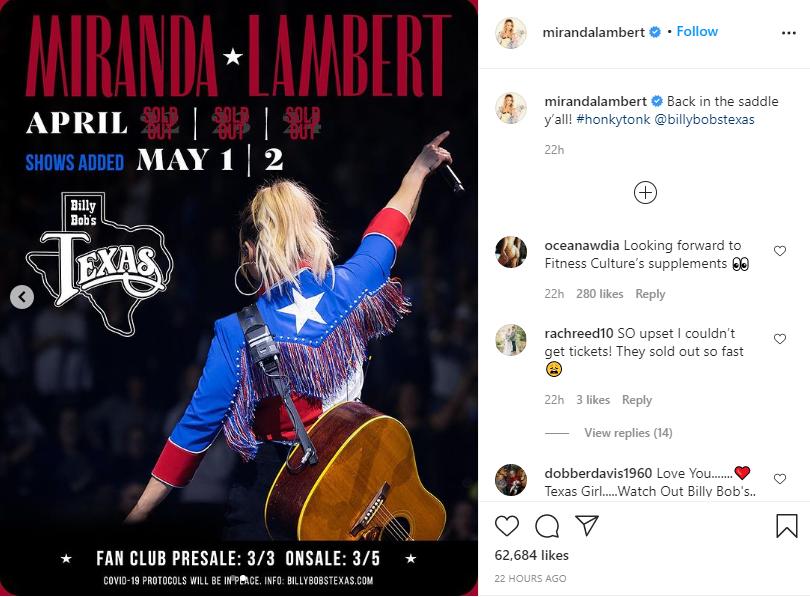 [Credit: Miranda Lambert/Instagram]