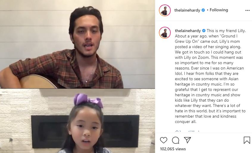Laine Hardy Reaches Out To Aspiring Asian American Country Singer Kid