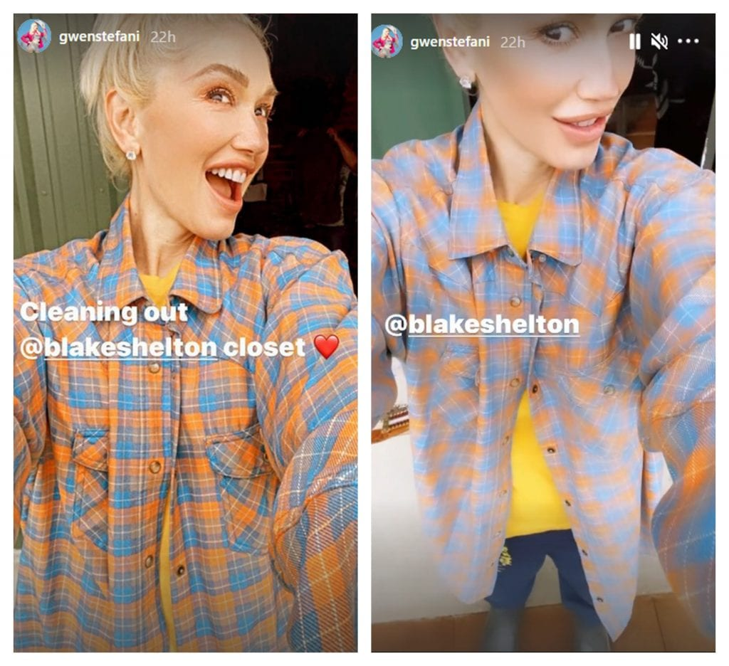 Gwen Stefani Blake Shelton closet feature