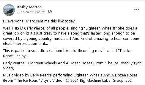 Credit: Kathy Mattea/Facebook