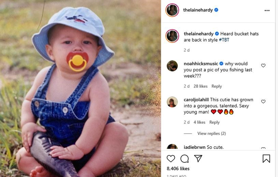 Laine Hardy Shares A Fun Throwback Photo With Country Fans